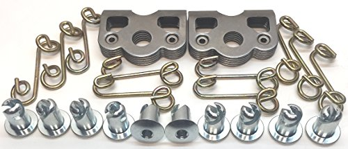 1/4 Turn Quick Release Steel Dzus Button with Springs and Tab Plates 10 Pack-Free Rivets!