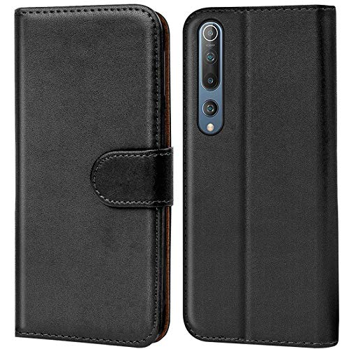 Verco Wallet Case for Xiaomi Mi 10, Xiaomi Mi 10 Pro Book Cover with Magnetic Closure compatible with Xiaomi Mi 10, 10 Pro Flip Case with Card Slots Faux Leather - Black
