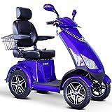 E-Wheels - EW-72 Heavy Duty Scooter - 4-Wheel - 18.5'W x 17'D - Blue