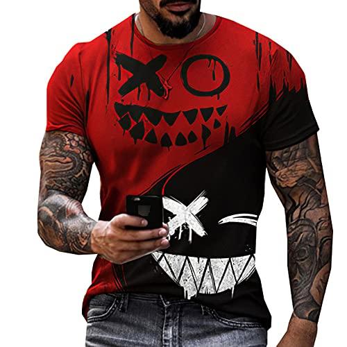 LaiYuTing Camiseta Estampada En 3D De Moda para Hombre, Camiseta Deportiva Informal De Calle, Camiseta con...