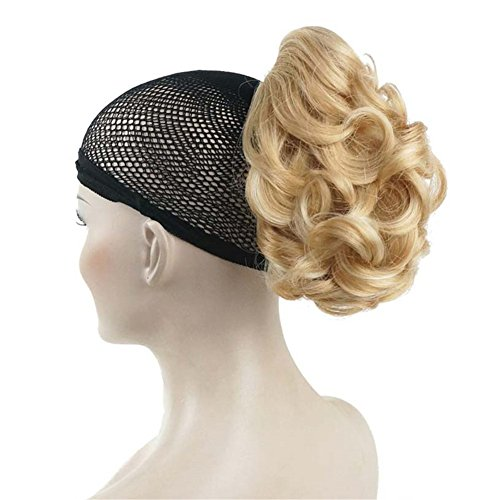 Aimole 6 Short Curly Synthetic Ponytail Clip in Claw Extensions 80g with a jaw/claw clip(24H613)