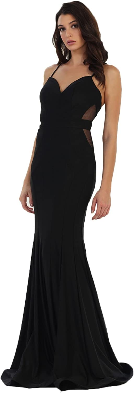 May Queen MQ1473 Sexy Evening Prom Stretchy Dress