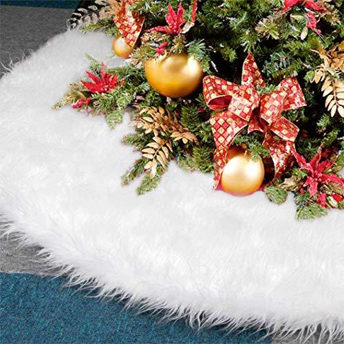 TK Gruppe Timo Klingler Baumdecke Unterlage Decke Tannenbaum Christbaumdecke Ø 80 cm, weiß Weiss - Weihnachtsbaumdecke Unterlage für Tannenbaum, Weihnachtsbaum (1x)