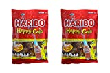 Includes TWO(2) 8-Ounce bags of Haribo Gummi Candy, Happy-Cola Mouth watering candy and are fat-free Shaped like bottles cola flavored candies
