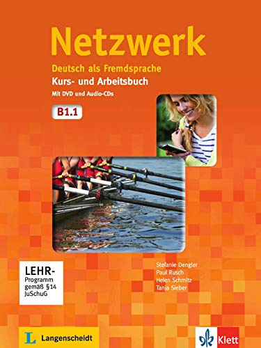 Netzwerk b1, libro del alumno y libro de ejercicios, parte 1 + cd + dvd: Kurs - und Arbeitsbuch B1 - Teil 1 mit 2 Audio CDs und