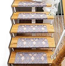 Stair Pads Carpets PVC Stair Tread Mat Anti-slip Staircase Pad Self-adhesive Step Rug Home Decoration (Color : Mosaic Patt...