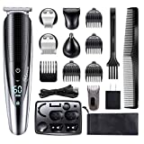 Hatteker Mens Hair Clipper Beard Trimmer Grooming kit Hair trimmer Mustache trimmer Body groomer...