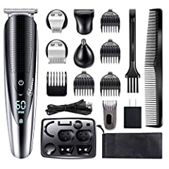 12 attachments for all of your grooming needs: A full size steel trimmer, extra-wide hair trimmer, a steel precision trimmer, a nose and ear hair trimmer, a body trimmer, a adjustable beard trimmer comb (3/4/5/6mm), 4 hair trimmer combs(3/6/9/12mm), ...