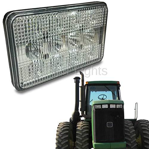 LED Tractor Headlight (Fits John Deere Tractors: 9100, 9200, 9300, 9300T, 9400, 9400T | Agco White Tractors: 2-50, 2-60, 2-70, 2-70, 2-85, 2-105, 2-110, 2-135, 2-155, 2-180)