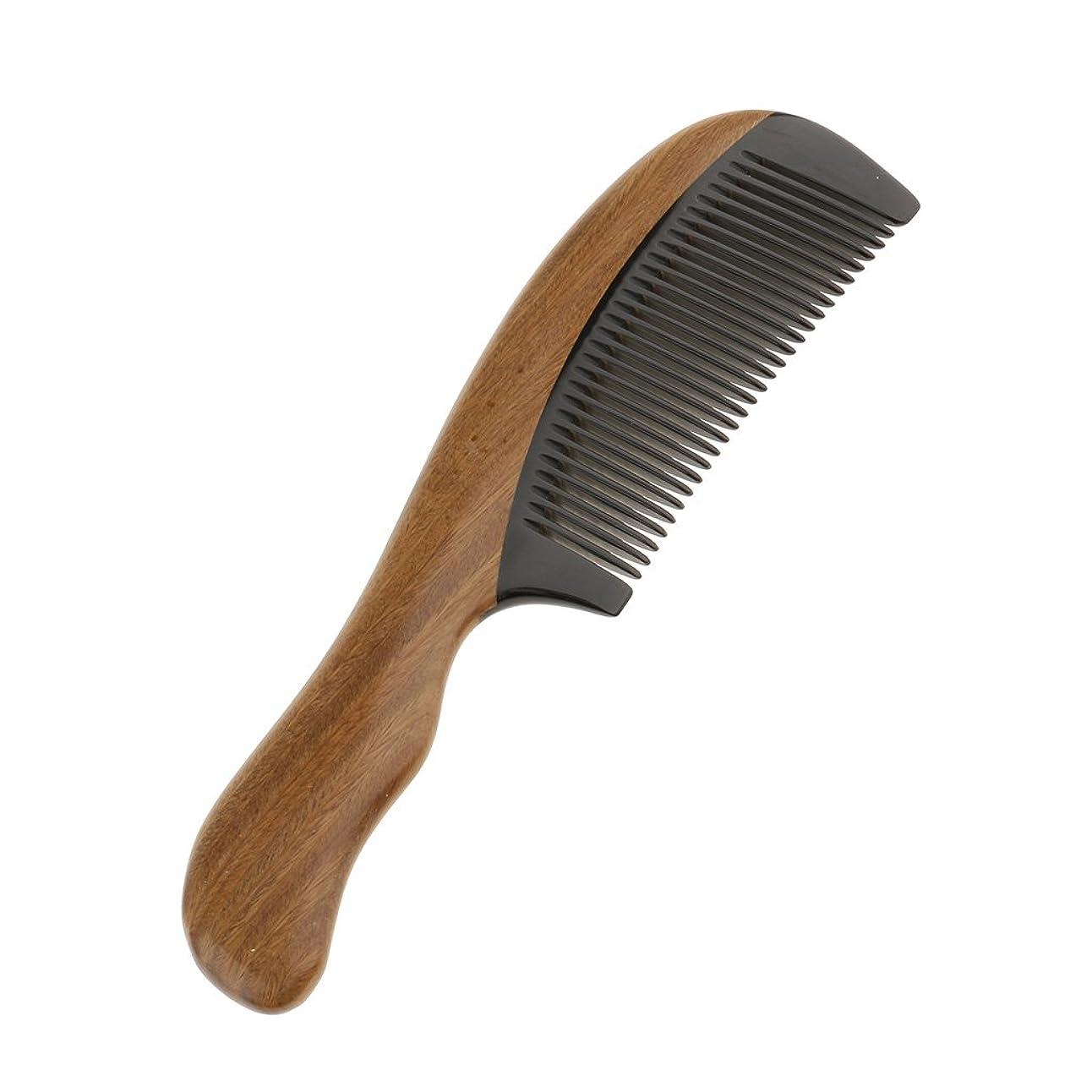 できない改修する賞Perfk 木製 櫛 ヘアケア マッサージ コーム ウッド ポケット ヘアブラシ 高品質