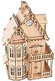 Maqueta de Madera Mockup 3D Puzzle Montaje de Juguete Manual Villa Gótico para niños y Adultos Mayores de 6 años