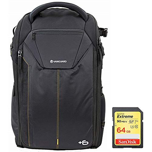 Vanguard Alta Rise 48 Camera Backpack for DSLR's or Drones Bundle with Sandisk 64GB Extreme SDXC Memory UHS-I Card