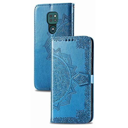 JIAFEI Funda para Motorola Moto E7 Plus / G9 Play, Estampado Mandala Libro...