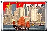 GIFTSCITY C294 Hong Kong (China) Fridge Magnet China Travel Vintage Refrigerator Magnet