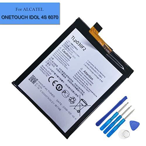 Ersatzbatterie TLp030F2 Kompatibel mit Alcatel One Touch Idol 4S (OT-6070) BlackBerry DTEK60 TLp030F1 Vodafone Smart Platinum 7