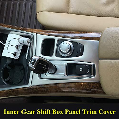 wroadavee Inner Center Console Gear Shift Box Cover Trim for BMW X5 X6 E70 E71 2008-2009