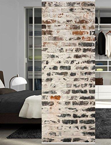 HOME WOHNIDEEN Raumteiler Dekostoff Digitaldruck Mall 245 x 90 cm Grau