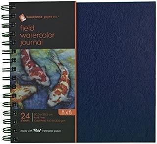 Global Art Materials Hand Book Field Watercolor Artist Journal Hardcover 24 Sheets, 8