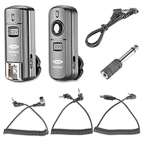 Neewer FC-16 Multi-Canal 2.4 GHz 3-IN-1 - Disparador Flash Inalámbrico/ Flash Estudio con Obturador Remoto para D7100 D7000 D5100 D5000 D3200 D3100 D600 D90 D800E D800 D700 D300S D300 D200 D4 D3S D3X D2Xs