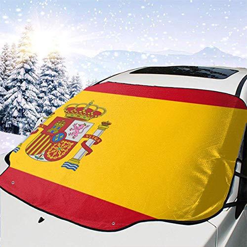 LREFON Visera de sombrilla automática para Parabrisas Delantero Impermeable Bandera de españa Protector protección contra heladas Invierno vehículos