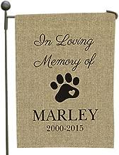 GiftsForYouNow Pet Memorial Personalized Burlap Garden Flag, 18