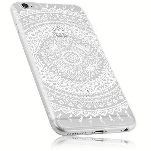 mumbi Hülle kompatibel mit iPhone 6 / 6S Handy Case Handyhülle mit Motiv Mandala weiss, transparent