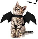 Rorchio 3 Pack Halloween Pet Bat Wings,Cat Dog Bat Costume Halloween Pet Costumes Accessories for Small Dogs...