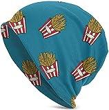 HomeLEE, berretto unisex comodo Slouchy con teschio elasticizzato, colore: blu patatine fritte
