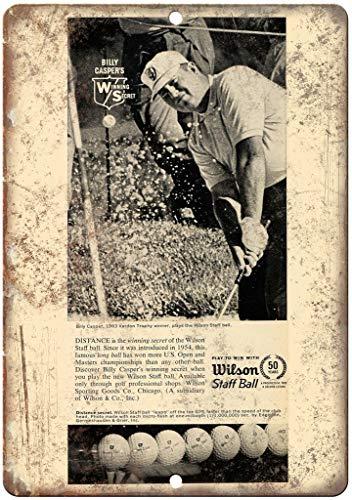 Wilson Staff Ball Billy Caspers Vintage Étain Mural Signe Vintage Métal Mur Affiche Rétro Plaque...