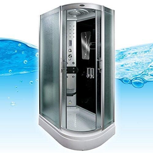 AcquaVapore DTP8060-7310R Dusche Duschtempel Komplett Duschkabine 80x120, EasyClean Versiegelung:JA mit 2K Scheiben Versiegelung