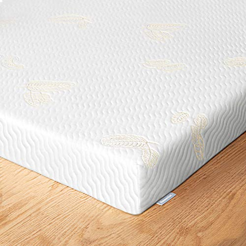 Newentor Mattress Topper, 7cm King Size Memory Foam Mattress Topper Releases Body Stress with Removable Washable Mattress Protector, 2-in-1 Memory Foam and Firm Foam Mattress Toppers,150x 200 cm