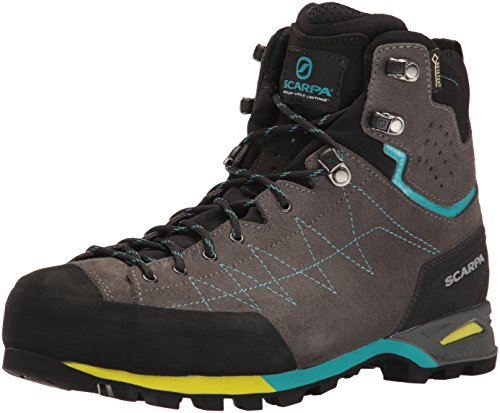 SCARPA Women's Zodiac Plus GTX WMN Hiking Boot Backpacking, Shark/Maldive, 38 EU/7 M US