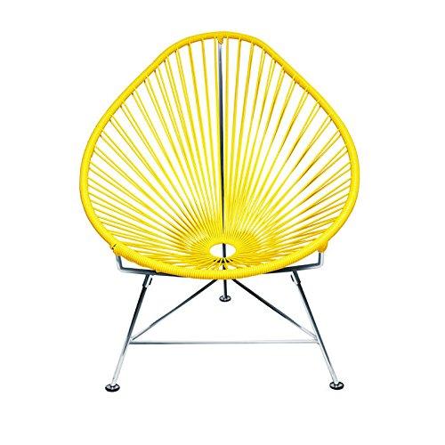 INNIT 05–03–03gelb Weave Baby Acapulco Stuhl mit Chrom Rahmen, Mehrfarbig, 30x 17x 28cm