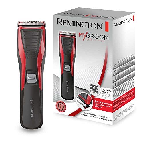 Remington Haarschneidemaschine HC5100 (netzbetriebener Haarschneider, selbstschärfende Edelstahlklingen, 12 Längeneinstellungen) Haarschneider, elektrischer Haartrimmer Herren MyGroom