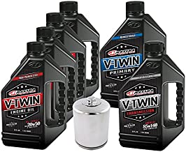 MaximaHiflofiltro VTTOCK15 Complete Engine Oil Change Kit for V-Twin Full Synthetic Harley Davidson Twin Cam, 6 Quart
