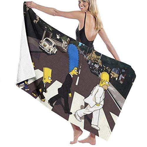 hengtai Simpsons Badetücher Übergroße Leichte, weiche, hochsaugfähige Strandtücher Travel Camping Gym Poolhandtücher Strandstühle