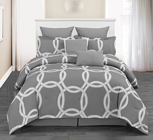 Duck River Textile full, size, black, blue, cal, king queen, twin c, double, dinosaur, daybed, dorm bed,comforter set dark, Silver, 92x92
