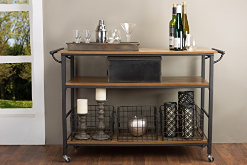 Our #6 Pick is the Baxton Studio Kitchen Cart