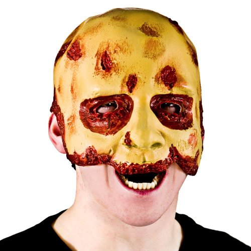 Zombie Fun-Masque visage en caoutchouc Argenté