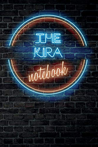 The KIRA Notebook: Vintage Blank Ruled Personalized & Custom Neon Sign Name Dotted Notebook Journal...