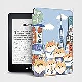 YMXCNM Funda para Kindle - Estilo Japonés Akita Dog Printing E-Book Case For Kindle Paper White 4 10Th Generation 2018 Cover All New Kindle 2019 Funny Fundas, For J9G29R