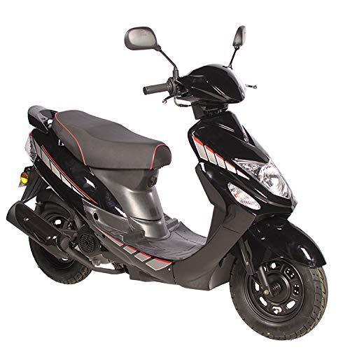 Motorroller GMX 460 Sport 45 km/h schwarz - sparsames 4 Takt 50ccm Mokick mit Euro 4 Abgasnorm