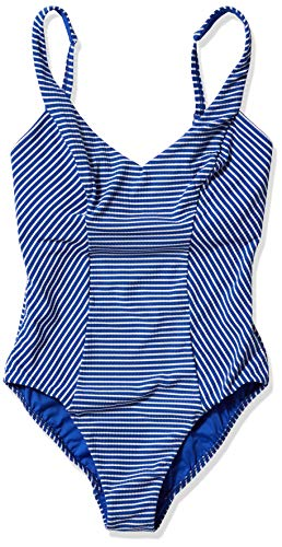 Seafolly Women's DD V Neck One Piece Swimsuit, Go Overboard Cobalt, 6 US
