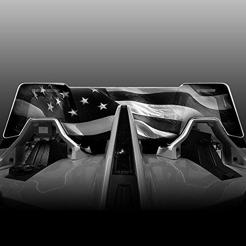 Windrestrictor Wind Deflector for 2014-Present Polaris Slingshot Convertible with Laser Etched American Flag Graphic