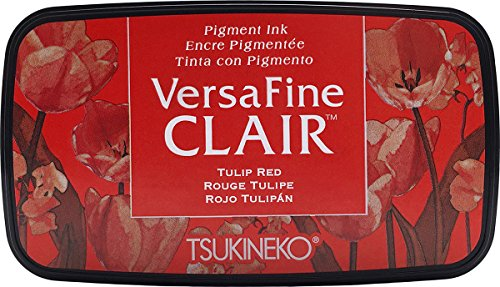 Tsukineko Red Tulip Versafine Clair Tinte Pad, Kunststoff, rot, 5,6 x 9,7 x 2,3 cm, Synthetisches Material, 5.6 x 9.7 x 2.3 cm