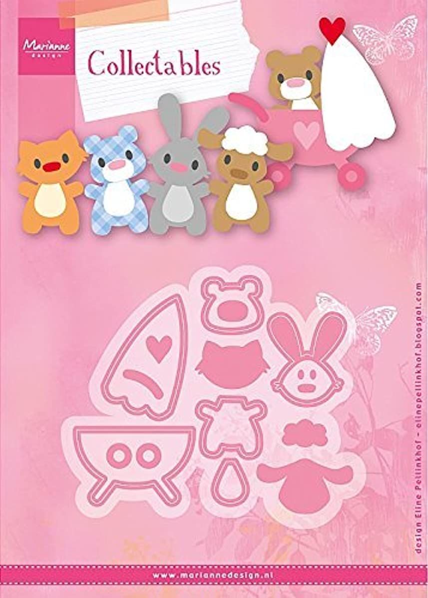 Marianne Design Collectables Eline's Baby Animals Die, Pink