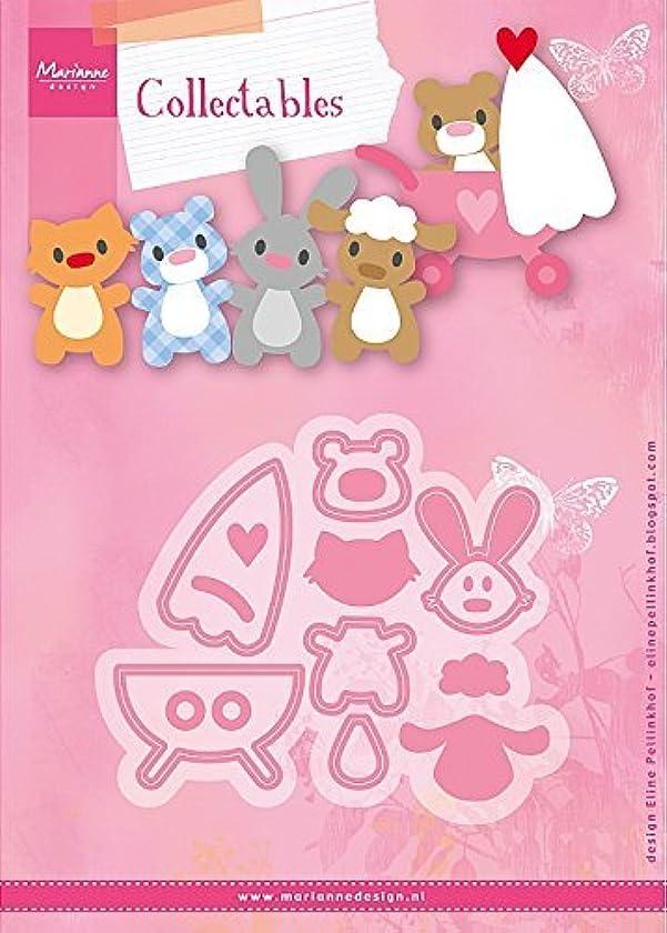 Marianne Design Collectables Eline's Baby Animals Die, Pink