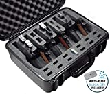 Case Club Waterproof 6 Pistol Pre-Cut Case with Silica Gel to Help Prevent Gun Rust