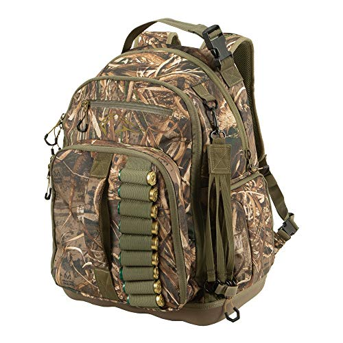 Allen Company Gear Fit Pursuit Punisher Waterfowl Hunting Multi-Functional Backpack/Duffel Bag, Purpose-Built Storage for Hunting Gear, 15.25 L x 9.75 W x 19.5 H inches, Realtree Max-5 Camo