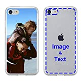 MXCUSTOM Custom Apple iPhone SE 2020 iPhone 8 iPhone 7 Case, Customized Personalized with Photo Image Text Picture Design Make Your Own Phone Covers [Clear Soft TPU Bumper + Hard PC Back] (CHT-CR-P1A)